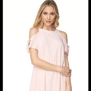 Dresses & Skirts - Cold Shoulder Shift Dress - Blush